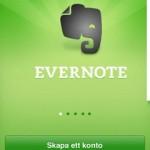 Evernote mobilapp