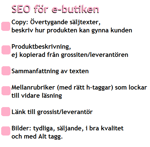 SEO för e-butik