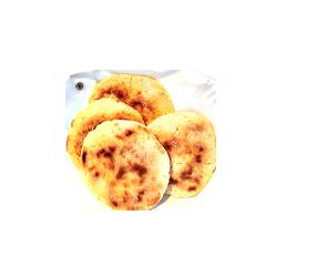 Arepa majsbröd från Sydamerika