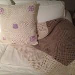 Virka filt och kudde