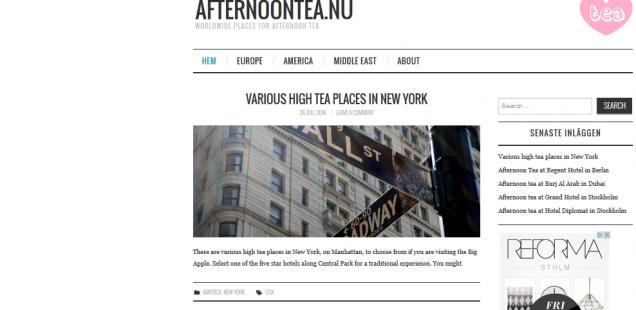 Ny sajt för Afternoon Tea älskare