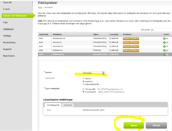 binero-skapa-webbplats