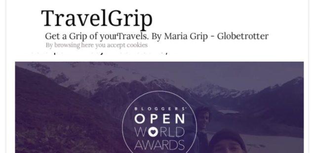 Nominering av resesajten TravelGrip.se